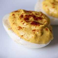 The humble deviled egg gets a spicy, smoky makeover.