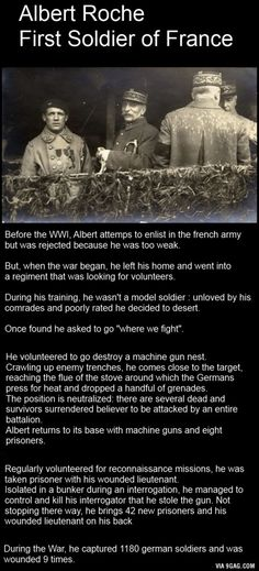 Albert Roche, First Soldier of France.