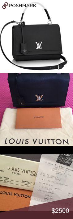 397652cb6d5 Louis Vuitton Lockme II Noir black bag Louis Vuitton comes with dust bag  and bag.