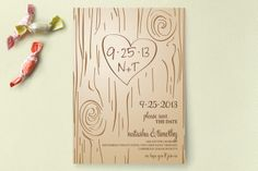 Fall Carving Save the Date Cards by Amanda Joy | Minted - Man, I really love this one. Doing it in B/W would be awesome too, maybe giving it a glow somehow...