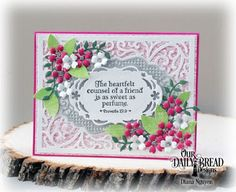 Our Daily Bread Design Stamp Set:  Sweet as Perfume, Our Daily Bread Designs Custom Dies: Bitty Blossoms, Vintage Borders, Vintage Flourish Pattern, Our Daily Bread Designs Paper Collections: Boho Bolds, Heart and Soul