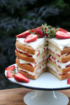 Strawberry Brownie Layer Cake Cake Pinterest Brownies