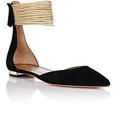 Aquazzura Hello Lover D'Orsay Flats - Ballet Flats - Barneys.com