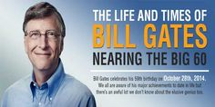 The Giant Of Computers Industry, The BILL GATES Is  Old Now But What About His Timeline? So Here We Have An Infograph About The Life and Times of Bill Gates - Nearing the Big 60.  Infograph: www.exeideas.com/2014/10/the-life-and-times-of-bill-gates.html Tags: #BillGates #Microsoft #History #Infograph #Infographic #MinrosoftInfographic #BillGatesHistory #BillGatesTimeline
