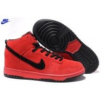 best service 841e6 f2f2e Appealing New Arrivals 2012 Women Nike Dunk High Shoes Bright Red Black  Shoes