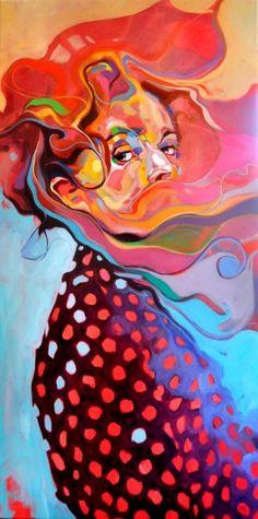 Dominik Jasinski -Smoke 120/60 cm oil on canvas
