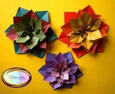 Hermosas Flores De origami Modular