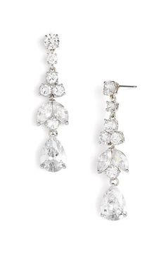 Tasha Cubic Zirconia Pear Drop Earrings available at #Nordstrom
