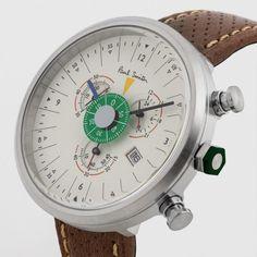 Paul Smith Men's 531 Tan Chronograph Watch.
