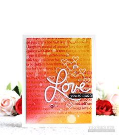 Simon Says Cling Rubber Stamp LOVE IS BACKGROUND