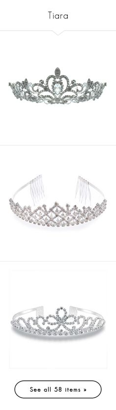 """""""Tiara"""" by dorastyles-clxiv ❤ liked on Polyvore featuring tiara, accessories, hair accessories, jewelry, crowns, tiaras, fillers, silver, circular and circle"""