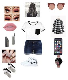 """""""Untitled #6"""" by lizzy-sossa on Polyvore featuring interior, interiors, interior design, home, home decor, interior decorating, WithChic, VILA, Lime Crime and Elizabeth Arden"""