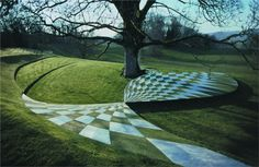 """garden of cosmic speculation ▴ portrack house, dumfries and galloway, scotland """"this sculpture garden was designed by landscape architect and theorist charles jencks. Most Beautiful Gardens, Amazing Gardens, Unique Architecture, Landscape Architecture, Building Architecture, Garden Of Cosmic Speculation, Landscape Design Plans, Outdoor Art, Architect Design"""