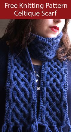 Cable Scarf Knitting Patterns- In the Loop Knitting Cable Knitting Patterns, Lace Knitting, Knitting Stitches, Knit Patterns, Finger Knitting, Knitting Machine, Shawl Crochet, Crochet Scarves, Knit Crochet