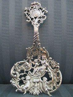 Spoon-GORHAM-bon-bon-No-589-1890-STERLING-SILVER-925-CAST-Cherubs-ART-NOUVEAU