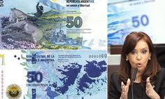 Argentina unveils new 50 peso bank note - with map of the Falklands