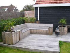 Deck Seating, Garden Seating, Outdoor Seating, Outdoor Sofa, Outdoor Living, Outdoor Spaces, Outdoor Decor, Dutch Gardens, Small Gardens