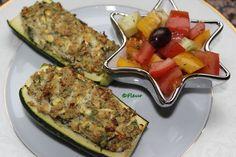 Dovlecei umpluti cu tofu Tofu, Zucchini, Vegan, Vegetables, Vegetable Recipes, Vegans, Veggies