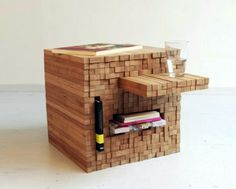 Jenga-Like Bamboo PixelTable Can be Pushed or Pulled to Create Storage Space | Inhabitat - Sustainable Design Innovation, Eco Architecture, Green Building