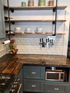 Dustin's Cargo Plank Shelves Colorado Homes, Planks, Kitchen Reno, Custom Furniture, Shelves, Flooring, Interior Design, Wood, House