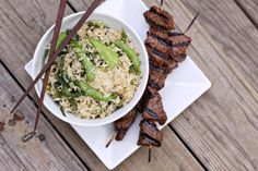 25 Delicious Garlic Recipes--spring veg. fried rice with garlic scapes