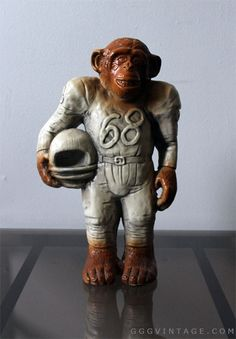 1968 VINTAGE CERAMIC MONKEY / PLANET OF THE APES SCULPTURE 14 INCHES TALL - SOLD www.XOatom.com Planet Of The Apes, Mid Century Decor, Mid Century Modern Furniture, Vintage Ceramic, Light Decorations, Vintage Decor, Mid-century Modern, Monkey, Lion Sculpture