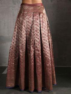 Maroon Vintage Benarasi Silk Brocade Lehenga with Pockets Indian Wedding Outfits, Bridal Outfits, Indian Outfits, Brocade Lehnga, Silk Brocade, Anarkali Dress, Lehenga, Indian Designer Outfits, Designer Dresses