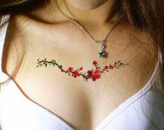 Negro rosa temporal tatuajes tatuajes Vintage por TattooCrush