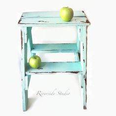 Step Stool *Pick Your Colour* Shabby Chic Furniture  /  Bedroom Side Table / Cottage Farmhouse Step Stool / Ships from Canada
