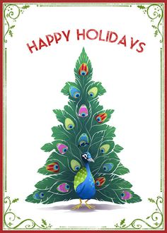 Peacock Happy Holidays