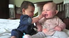#Cute #Baby Girls Having A Conversation