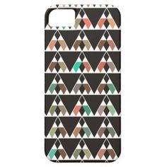 Bohemian Triangular Pattern iPhone 5 Cover #brown #earthy #iphonecase #iphone5 #triangles #pattern