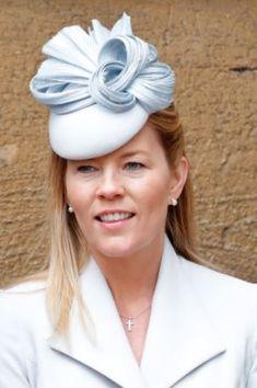 Apr 2017 in Juliette Botterill Autumn Phillips, Navy Coat, Headpieces, British Royals, Chevron, Royalty, Hats, Blue, Clothes