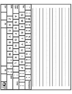 computer keyboard layout - Word Work activity for Daily 5
