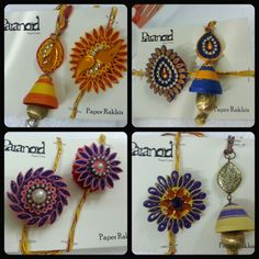 Traditional motifed pair rakhi n lumba. by Paranoid Quilling Earrings, Quilling Jewelry, Quilling Craft, Paper Earrings, Paper Jewelry, Paper Quilling, Hobbies And Crafts, Arts And Crafts, Paper Crafts