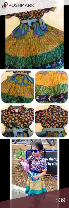 Matilda Jane bayberry paint by numbers size 4 t Matilda Jane bayberry paint by numbers lovely dress size 4 t no stains or tears lost original belt matilda jane Dresses Casual
