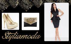 Ponadczasowe połączenie czerni i złota, sprawdza się praktycznie o każdej porze roku. Idealna propozycja na imprezę:) http://styliamoda.pl/home/4308-sukienka-z-kopertowym-dekoltem-z-baskinka.html