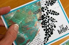 Club Scrap Creates: Round the Corner with Gel Printing