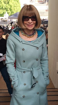 Anna Wintour at the Burberry Prorsum S/S14 show in Kensington Gardens, London
