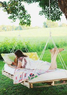 custom made hanging pallet bed hammock swing