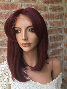 Translucent lace, Medium cap with adjusting straps. The wig is layered and Finished in Soft curls to frame the face. Lace Front Wigs, Lace Wigs, Redhead Makeup, Grey Wig, Cool Braids, Soft Curls, Latest Hairstyles, Hair Goals, Hair Ideas