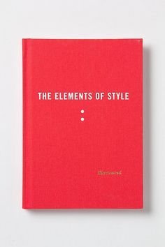 Strunk and White's Elements of Style...illustrated version! I want this. I'm a grammar nerd with a soft spot for witty illustrations. (A classic! Great gift for any word-lover. - Jason @KCLibrary)