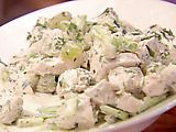 Love this chicken salad recipe. I add more mayo, 1/2 c. sour cream, walnuts, and pecans. SO GOOD!