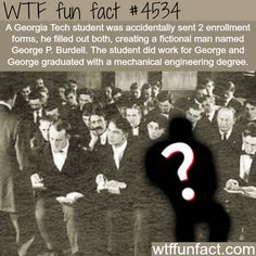 George P. Burdell, the fictional character with degree in engineering - WTF fun facts