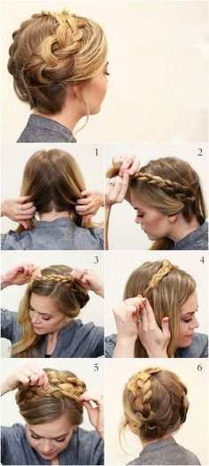 Easy To Do Hairstyles - Step By Step Tutorials - Octoberfest - Oktoberfest Easy Hairstyles For Medium Hair, Hairstyles With Bangs, Medium Hair Styles, Braided Hairstyles, Wedding Hairstyles, Curly Hair Styles, Natural Hair Styles, German Hairstyle, Oktoberfest Hair
