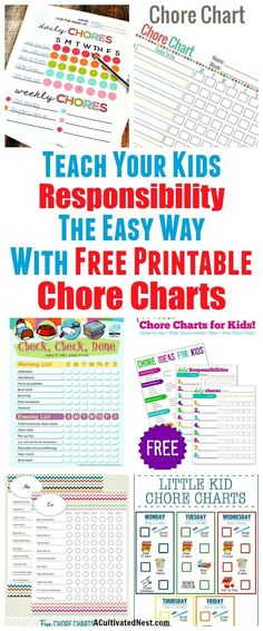 10 Free Printable Chore Charts for Kids 10 Free Printable Chore Charts for Kids- These free printable chore charts for kids will help motivate your kids to finally do their chores! Includes chore charts for kids of all ages! Chore Chart By Age, Chore Chart For Toddlers, Chore Chart Template, Free Printable Chore Charts, Chore List For Kids, Charts For Kids, Chores Chart For Teens, Toddler Chore Charts, Children Chore Chart