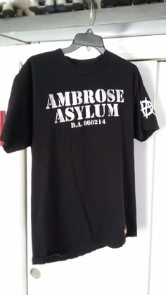 DEAN AMBROSE ASYLUM UNHINGED AND ON THE FRINGE WWE Authentic Shirt Adult Large - http://bestsellerlist.co.uk/dean-ambrose-asylum-unhinged-and-on-the-fringe-wwe-authentic-shirt-adult-large/