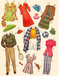 Kathleen Taylor's Dakota Dreams: Thursday Tab- Saalfield Paper Dolls and Wardrobe Box, 1944