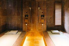Bijuu design hotel in Kyoto, Japan. Luxury suite of minimalistic architecture and industrial design . Here's the japanese sauna - photography © TalesLikeThese #taleslikethese #bijuuhotel #design #hotel #architecture #minimalism #design #industrial #interior #luxury #suite #brickstone #concrete #walls #travel #luxury #kyoto #japan #sauna