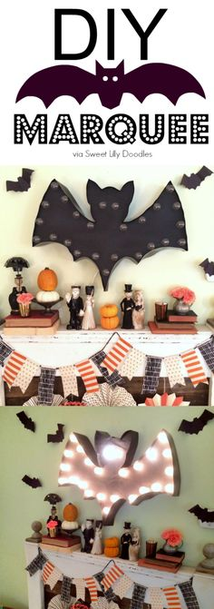 DIY Bat Marquee with